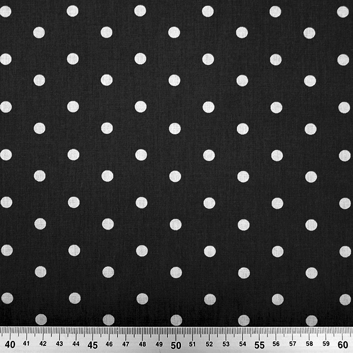 Bombaž, poplin, pike, 15910-5, črna