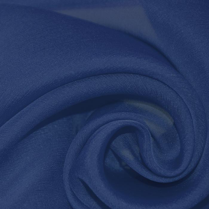 Svila, šifon, 15935-1, modra