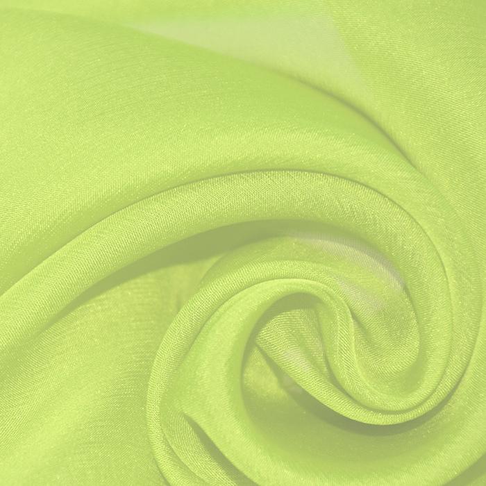 Svila, šifon, 15935-4, zelena