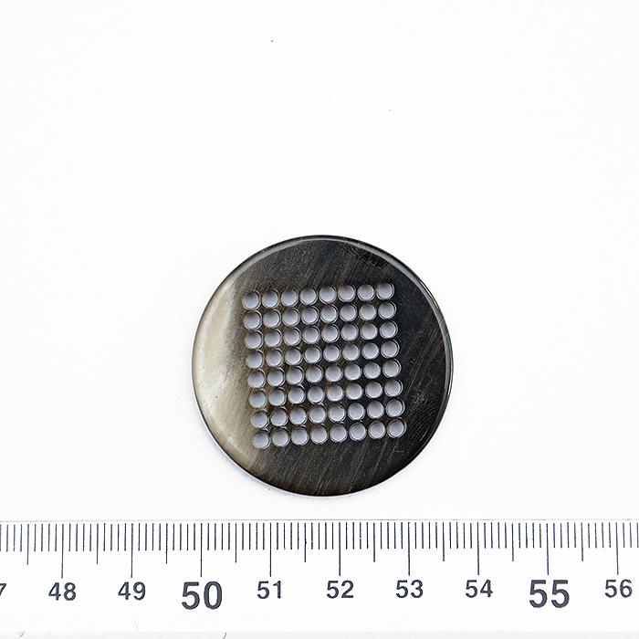 Gumb, okrasni, rjava, 34 mm, 15952-0203