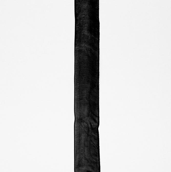 Trak, organza, 20 mm, 5033-2, črna