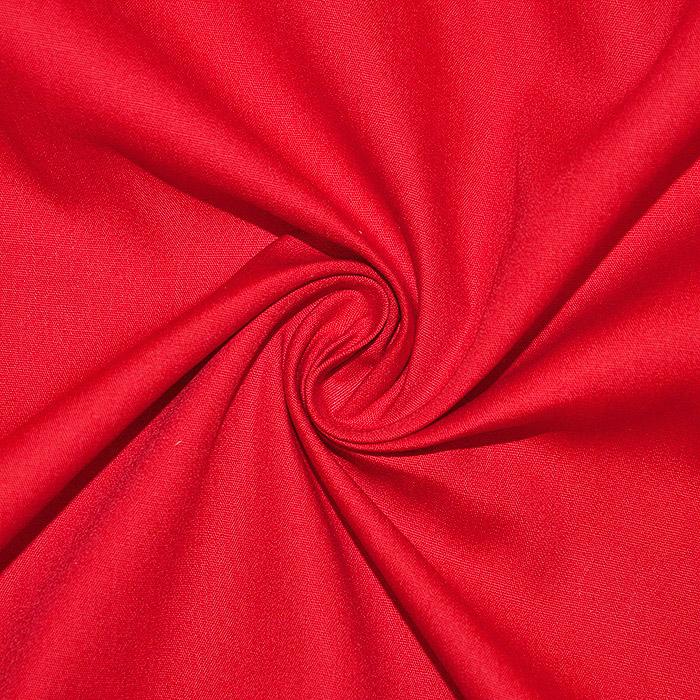 Bombaž, poplin, elastan, 2560-4, rdeča