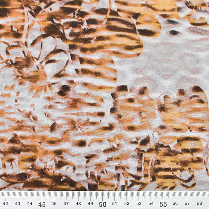 Jersey, poliester, abstrakten, 16013-265, rjava