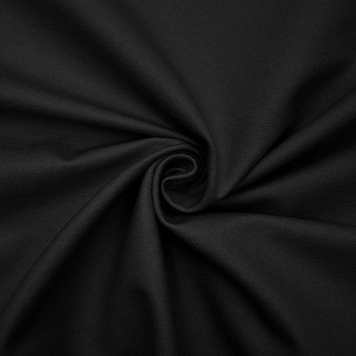 Bengalin, elastična tkanina z nanosom, 16058-069, črna