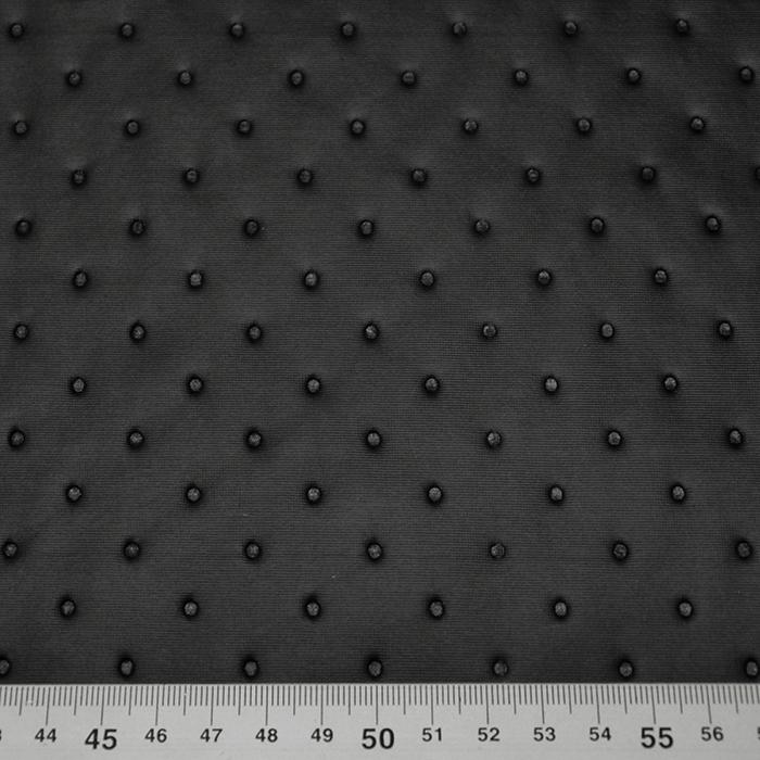 Prošiven materijal, točkice, 16081-269, crna