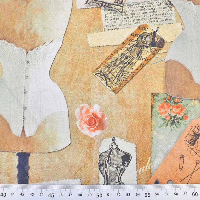 Bombaž, poplin, digital, romantični, 15525-195