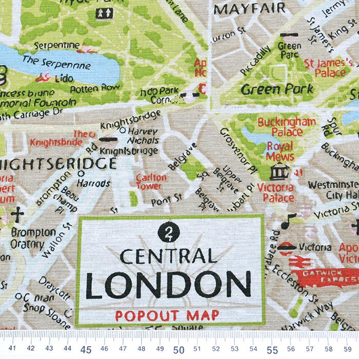 Deko tisk, zemljevid, London, 16114-052