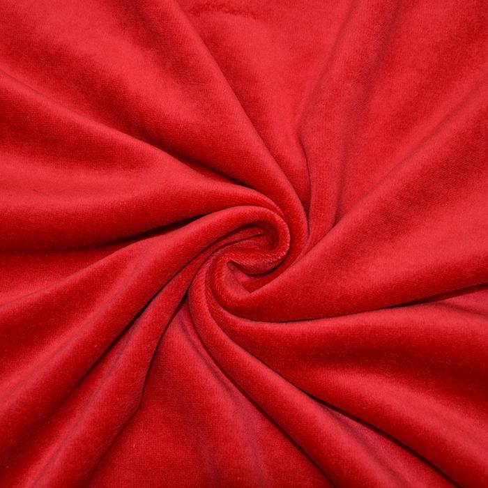 Pliš, pamuk, 13348-015, crvena