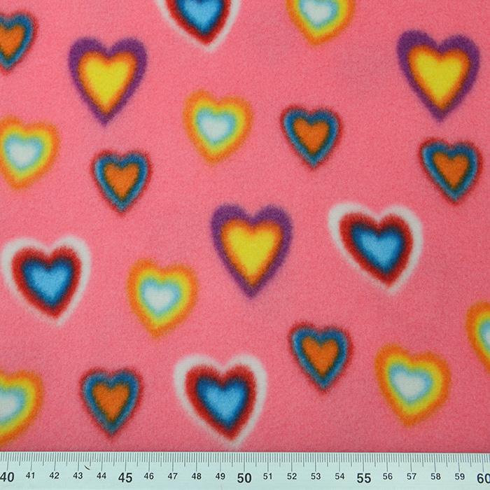 Velur, srčki, 16139-002, roza