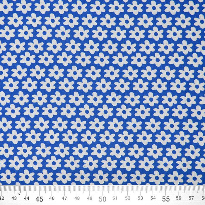 Bombaž, poplin, rožice, 16048-007, modra