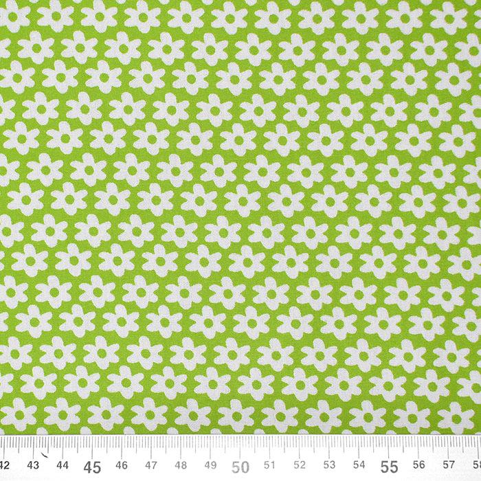 Bombaž, poplin, cvetlični, 16048-024, zelena