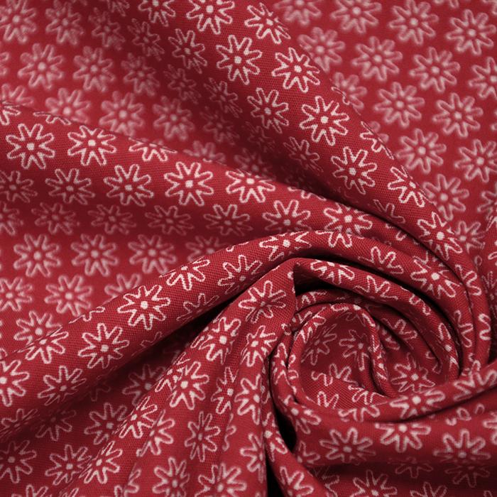 Pamuk, popelin, cvjetni, 16048-218, bordo crvena