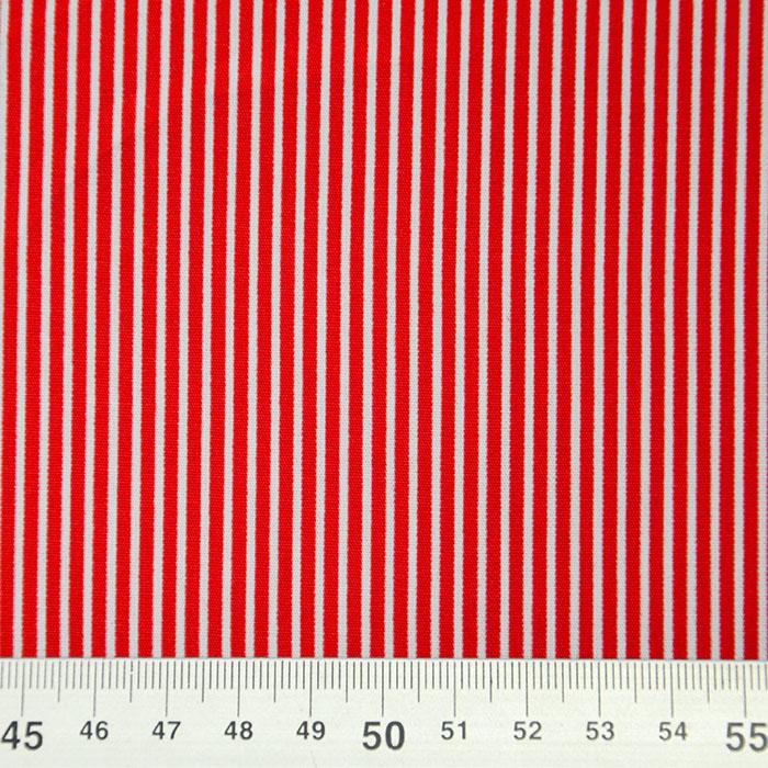 Bombaž, poplin, črte, 16048-315, rdeča