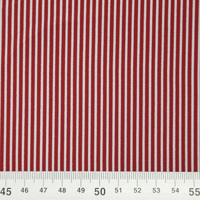 Bombaž, poplin, črte, 16048-318, bordo rdeča