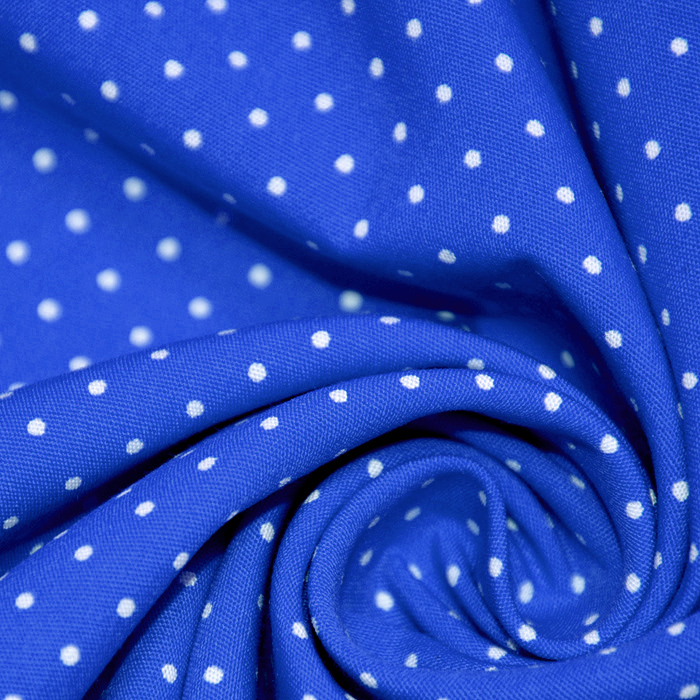Bombaž, poplin, pike, 16048-407, modra