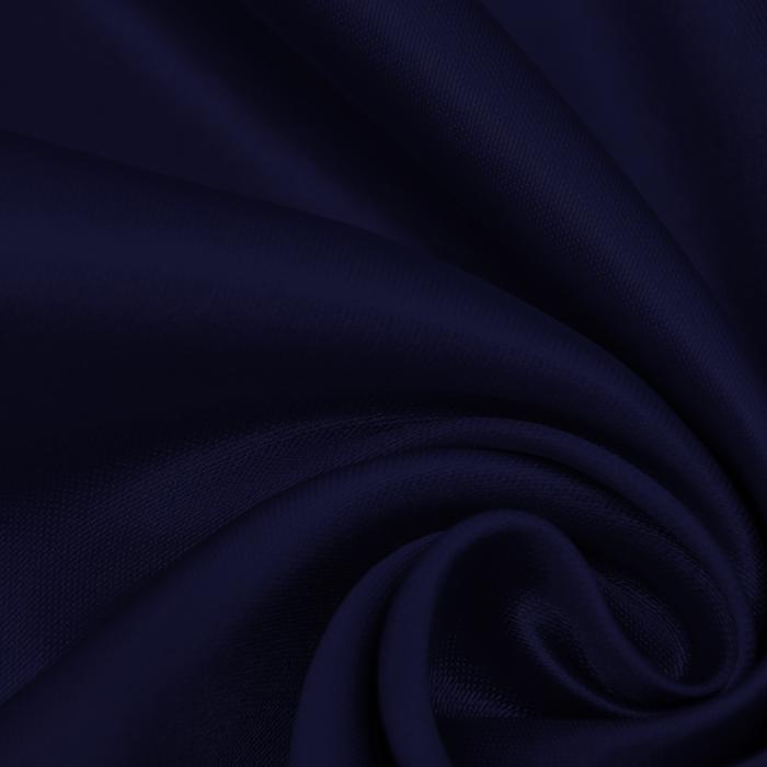Saten, poliester, 15635-50, modra