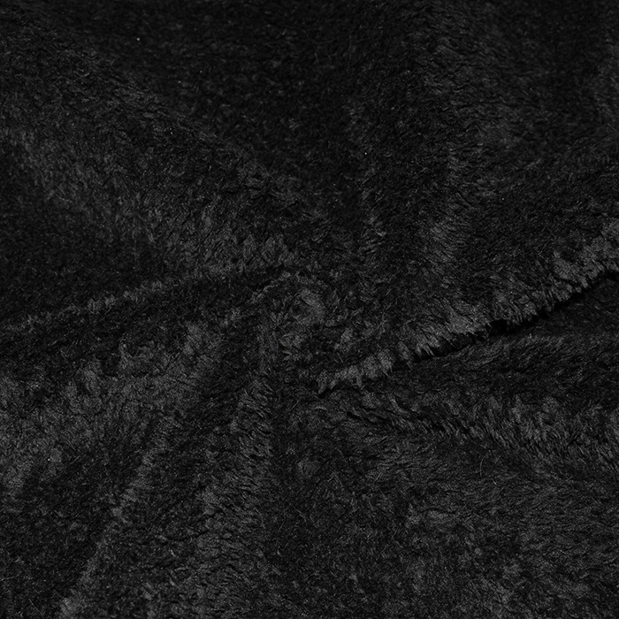 Umetno krzno, obojestransko, 16261-2, črna