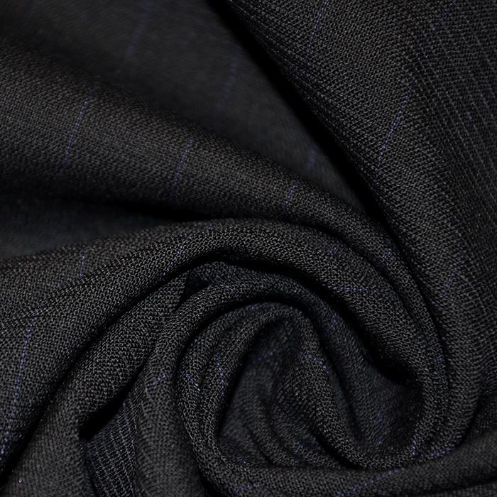 Kostimski, volna, črte, 16258-8, črna