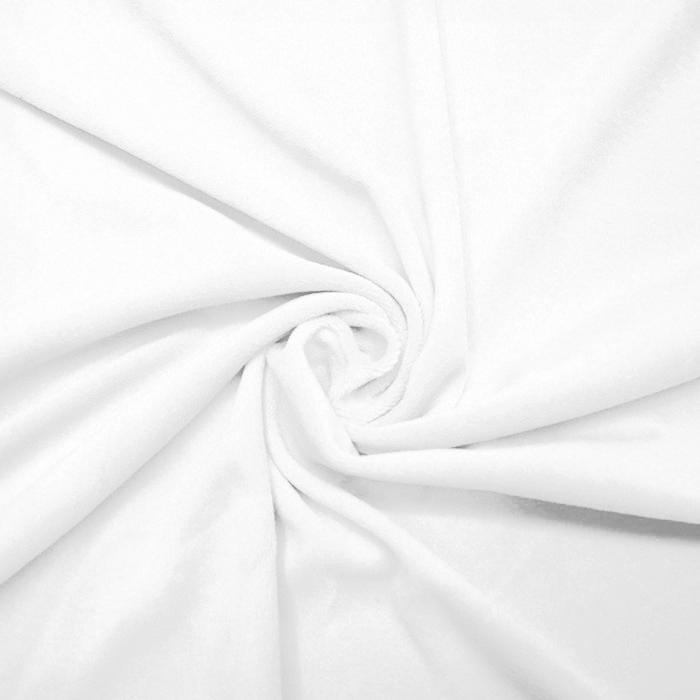 Pliš, pamučni, 13348-050, bijela