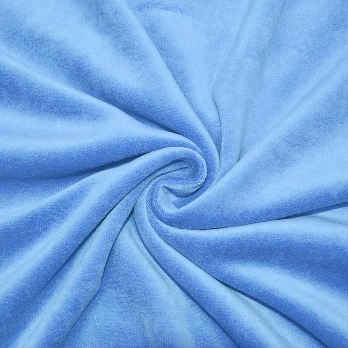 Pliš bombažen, 13348-002, modra