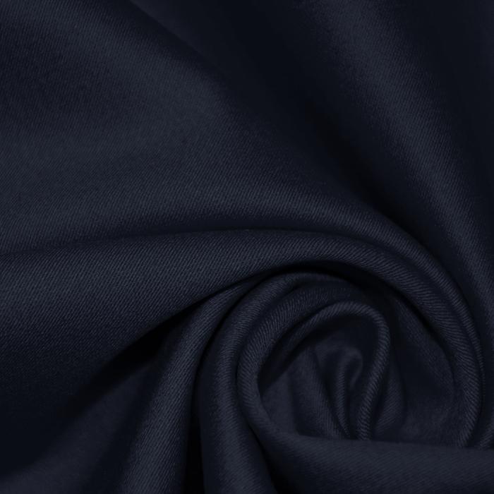 Saten, bombaž, 16275-008, temno modra