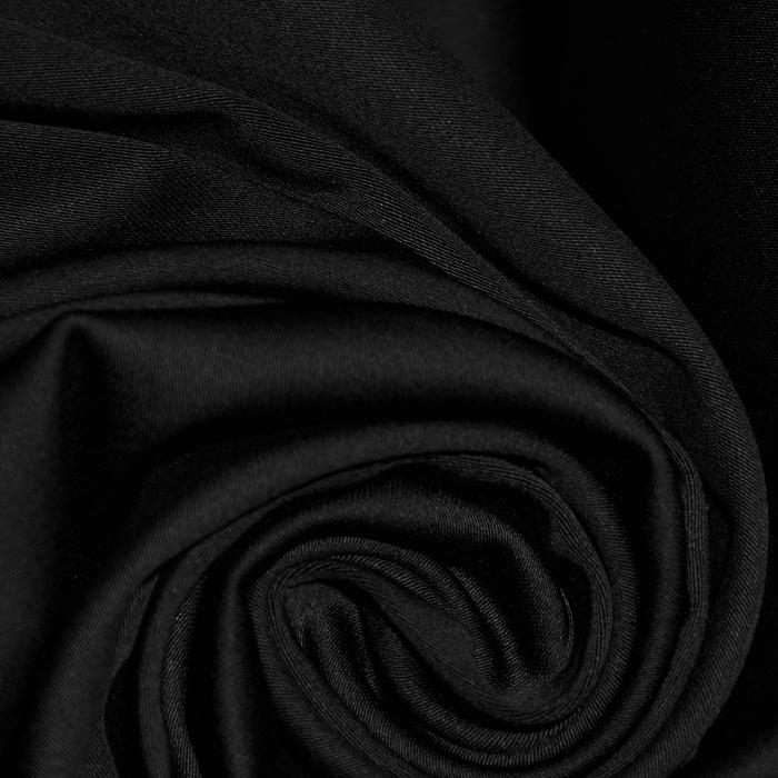 Saten, bombaž, 16275-069, črna