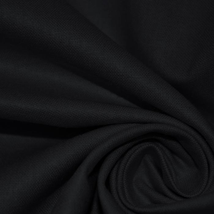 Bombaž, poplin, 16386-9, črna