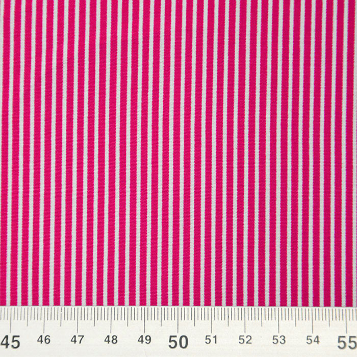 Bombaž, poplin, črte, 16048-317, roza