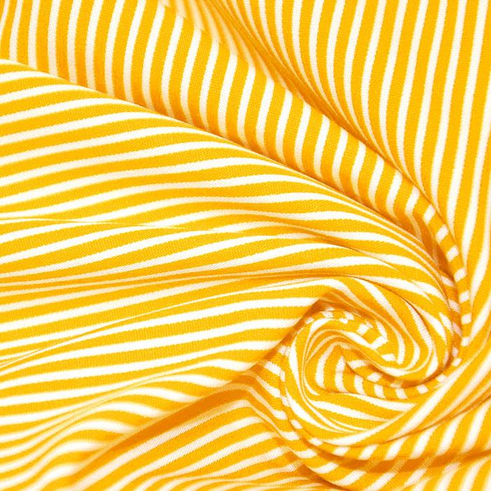 Bombaž, poplin, črte, 16048-331, rumena