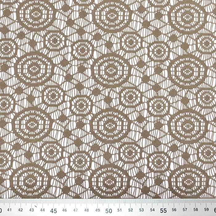 Čipka, geometrijska, krogi, 16418-746, bež