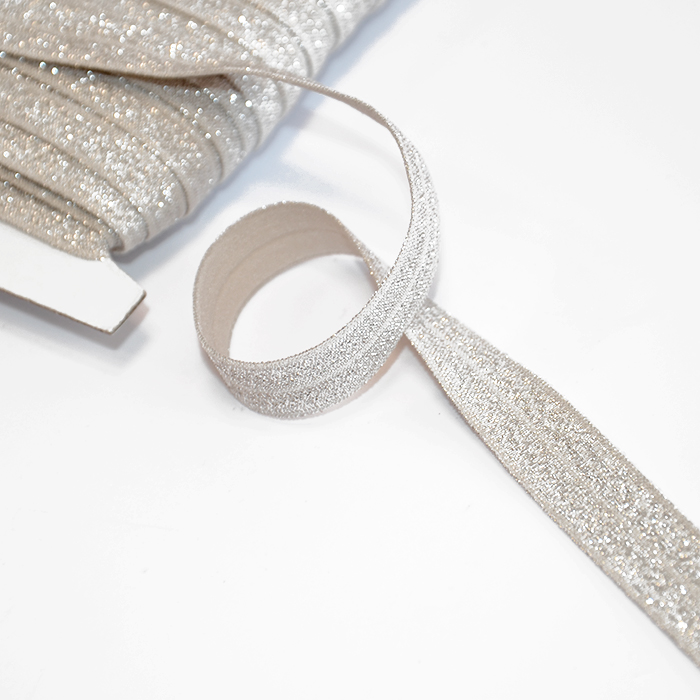 Elastika, obrobna glitter, 16200-41090, bež