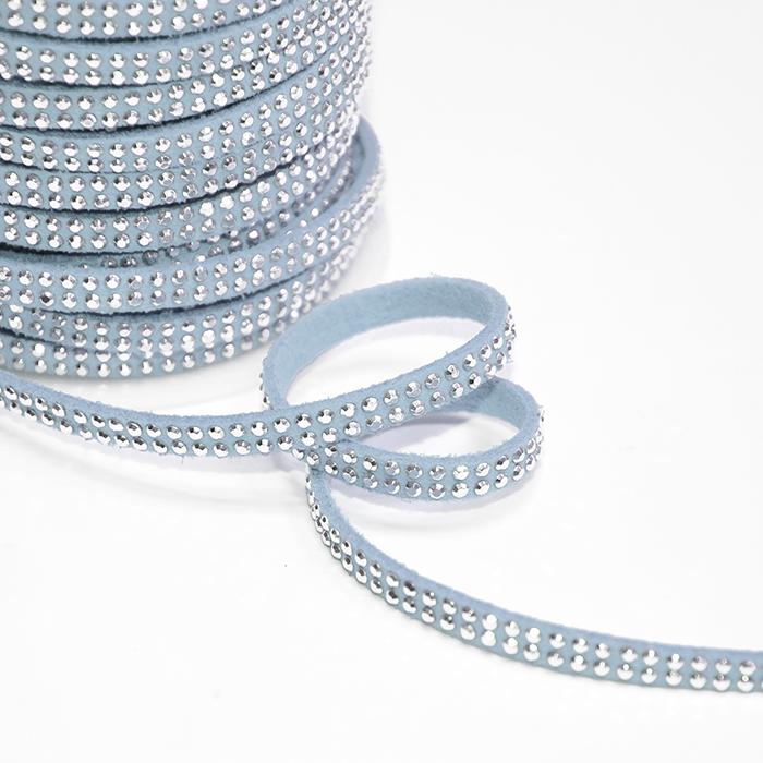 Trak, skaj s kristalčki, 16512-41560, modra
