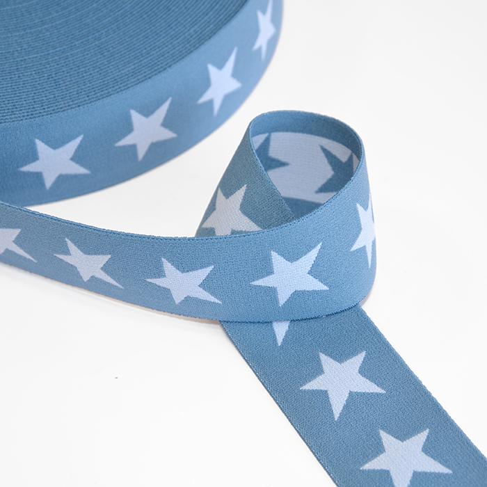 Elastika, 40mm, zvezde, 16515-42509, modra