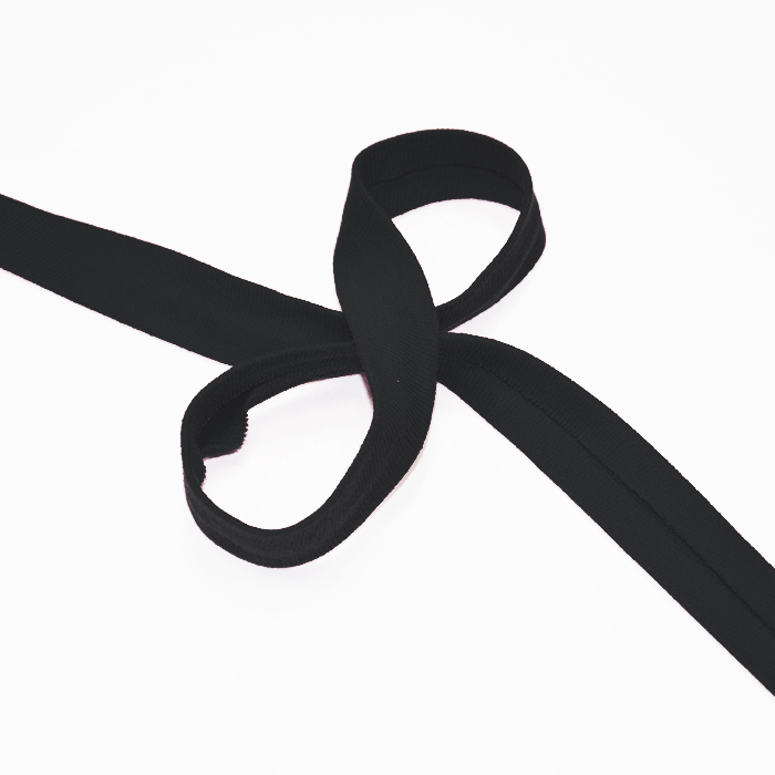 Obrobni trak, jersey, bombaž, 16517-42734, črna