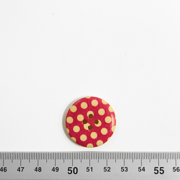 Gumb, leseni, tisk, 30 mm, 16518-42235