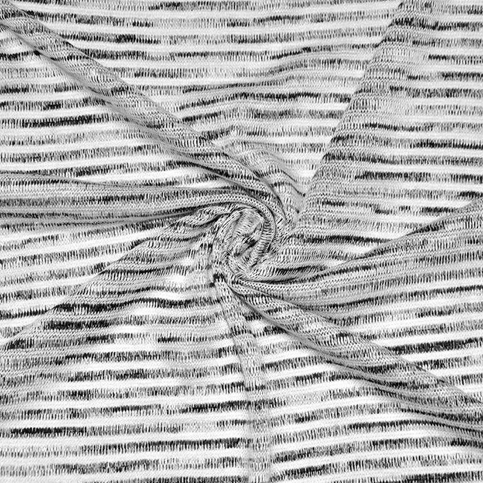 Pletivo tanjše, črte, 16585-999, črno bela