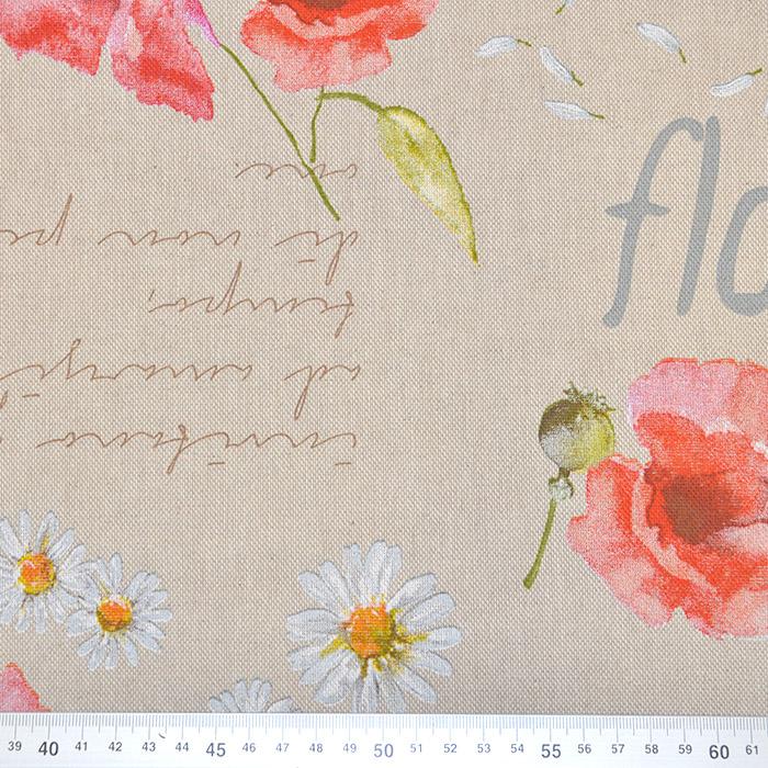 Deko, tisk, cvetlični, 15188-105