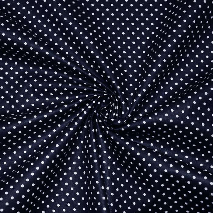 Bombaž, impregniran, pikice, 16629-008, temno modra