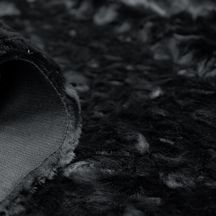 Krzno, umetno, kratkodlako, 16716, črna