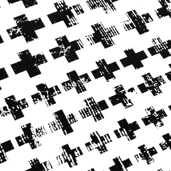 Preslikač, križci, 16726-2, črna