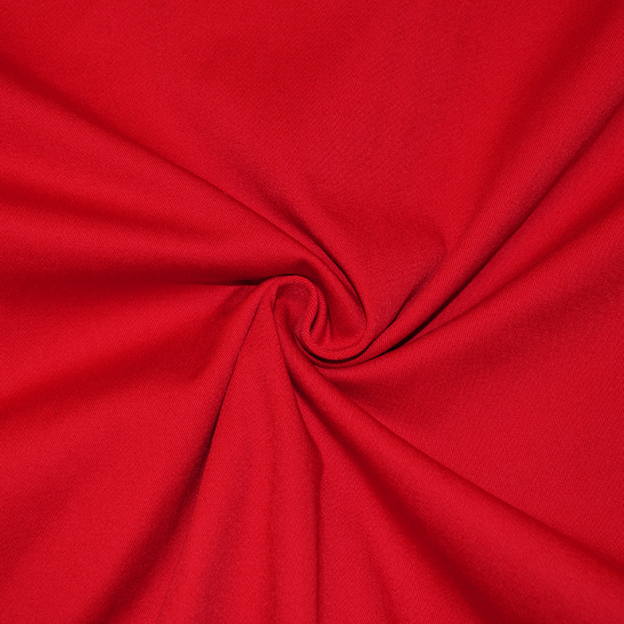 Bombaž, keper, elastan, 16776-015, rdeča