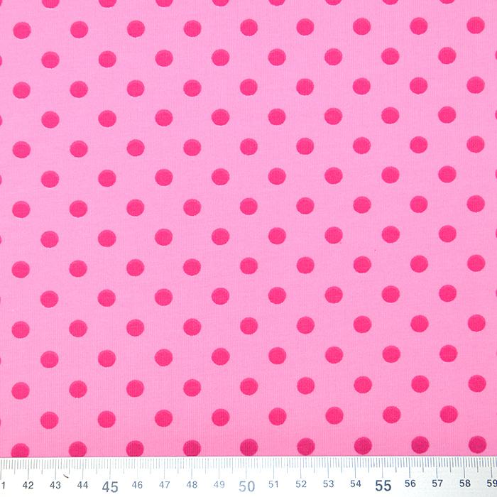 Jersey, pamuk, točkice, 16363-117, ružičasta