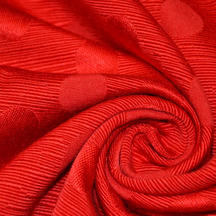 Otoman, žakard, 4146-333, živo rdeča