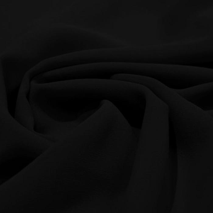 Šifon, poliester, 15174-26, črna