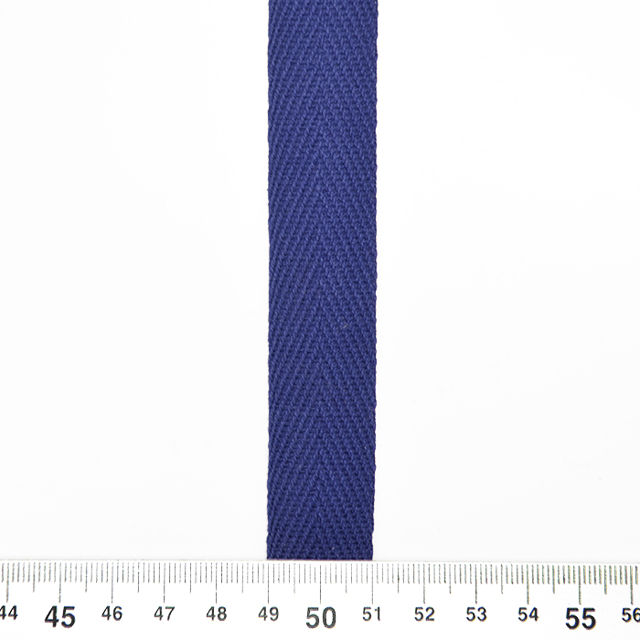 Trak, bombaž, 20 mm, 2720-8658, modra