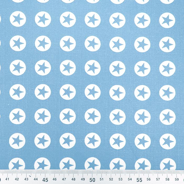 Bombaž, poplin, zvezde, 16982-002