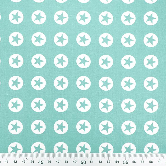 Bombaž, poplin, zvezde, 16982-022