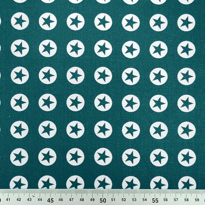 Bombaž, poplin, zvezde, 16982-024