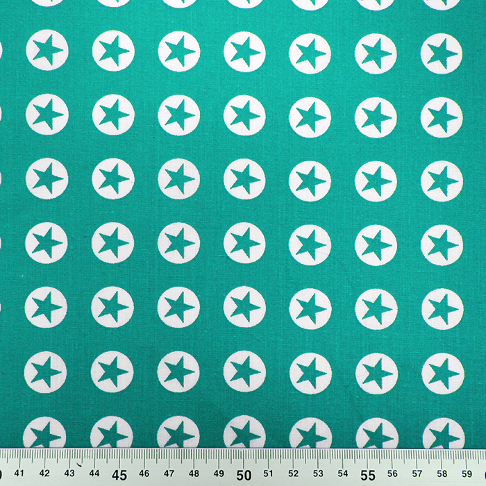 Bombaž, poplin, zvezde, 16982-124