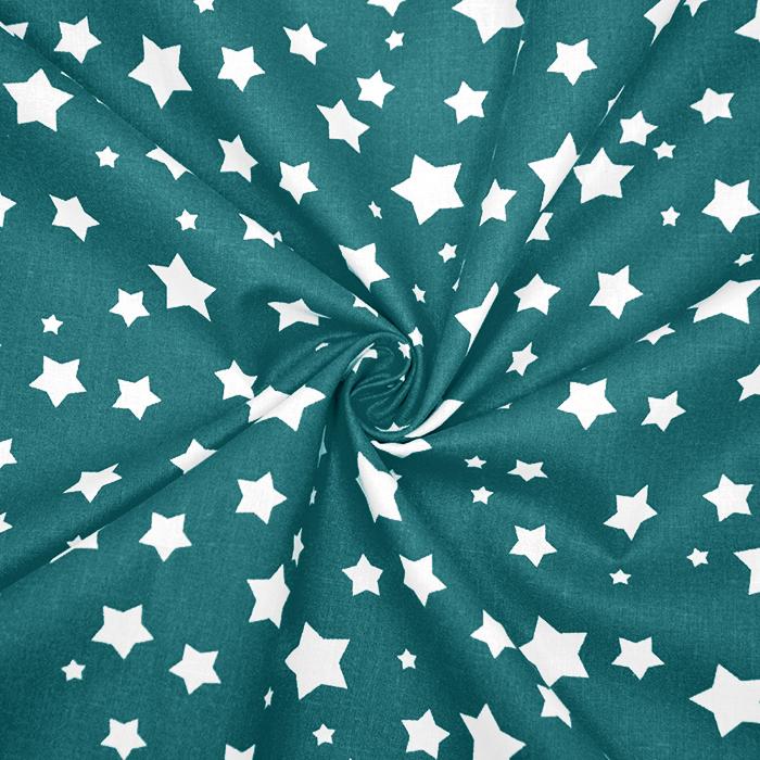 Bombaž, poplin, zvezde, 16983-024